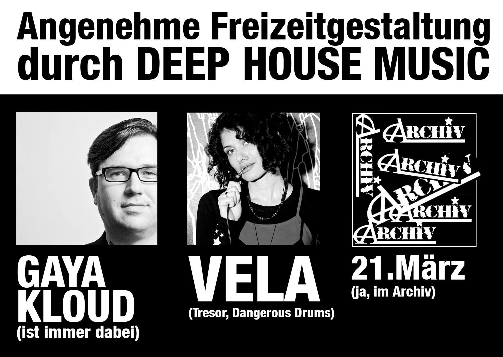 21.3.14 Beatenterprises mit DJ Vela & Gaya Kloud @ Archiv