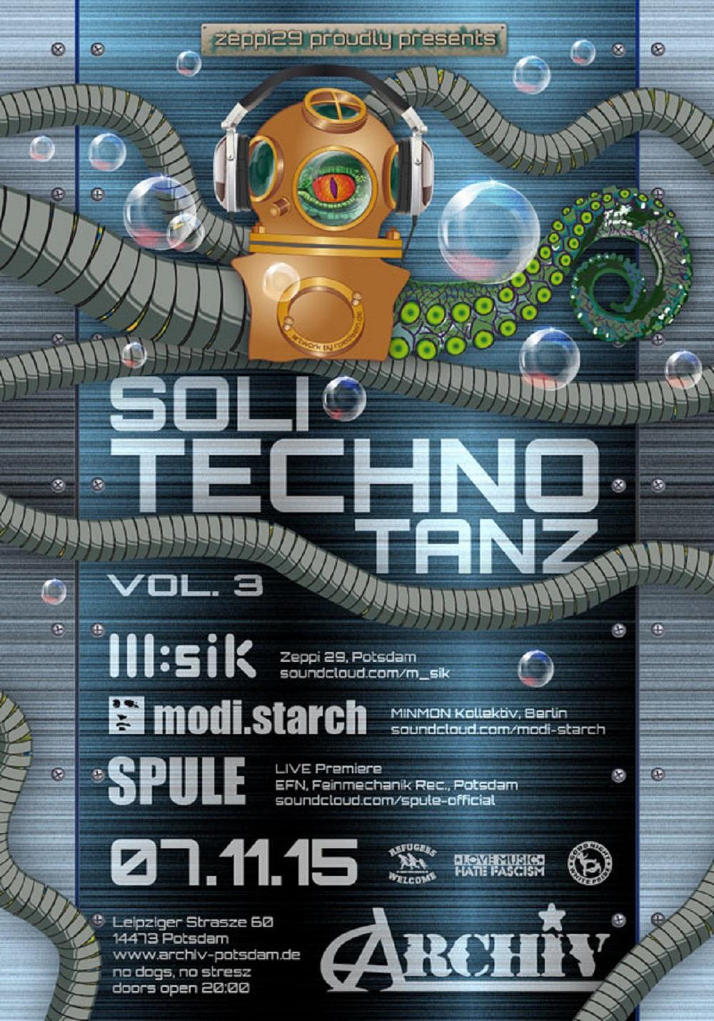 07.11.15 Soli-Techno-Tanz Vol.3 @ Archiv