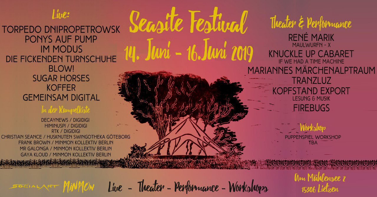 Seasite Festial 2019 Lietzen Flyer